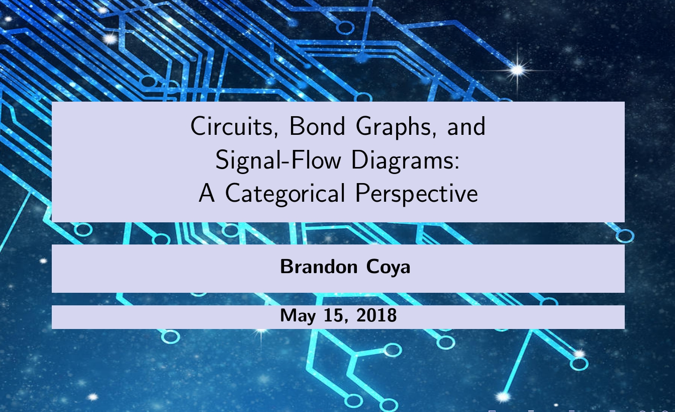Circuits, Bond Graphs, and Signal-Flow Diagrams | The n-Category Café